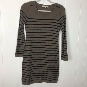 Loft striped sweater dress size extra small petite